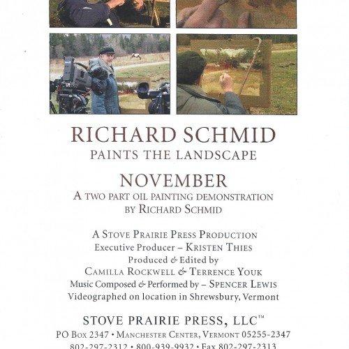 Richard Schmid Paints The Landscape - November