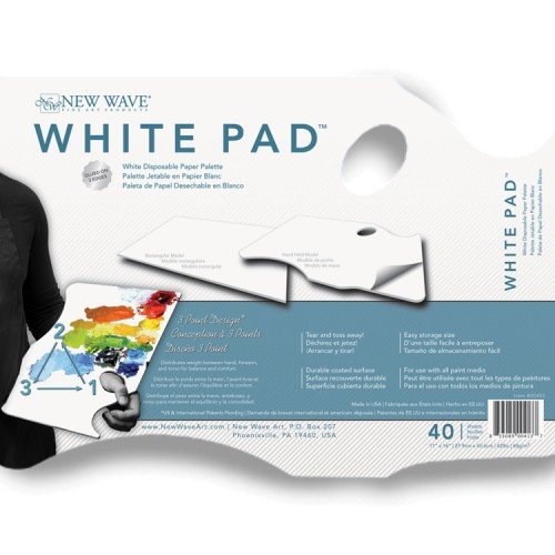 New Wave Palette White Pad Hand-Held