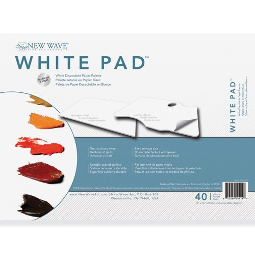 New Wave Palette White Pad Rectangular