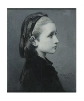 Monochrome-Painting in Black & White: National Gallery, London | Celesting Blanc head of a Girl