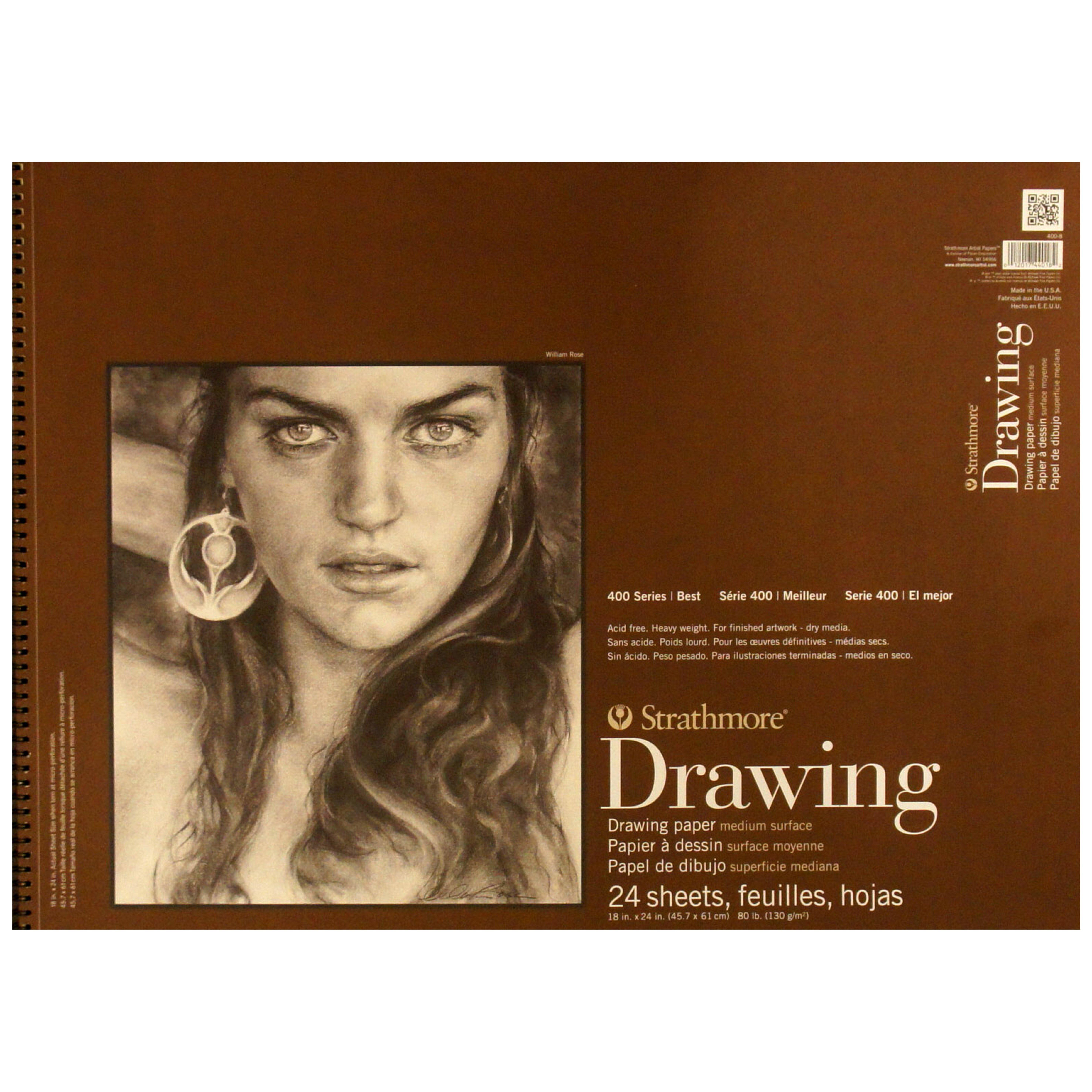 Strathmore Series 400 Drawing Paper 18x24 24 Sheets (Medium)